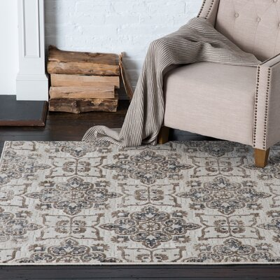 Pelzer Anderson Ivory Area Rug Rug Size: Rectangle 53 x 77