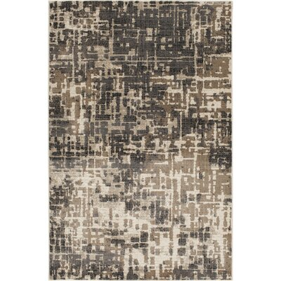 Greear Aliar Beige/Black Area Rug Rug Size: Rectangle 53 x 77