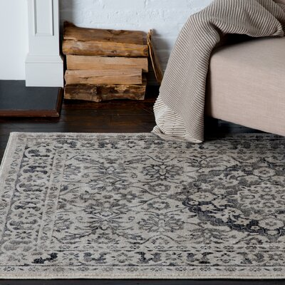 Huang Maja Gray/Beige Area Rug Rug Size: Rectangle 53 x 77