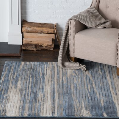 Malmberg Hamal Blue/Beige Area Rug Rug Size: Rectangle 710 x 1010