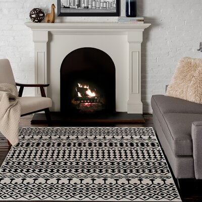 Malmberg Moab Ivory/Beige Area Rugs Rug Size: Rectangle 53 x 77