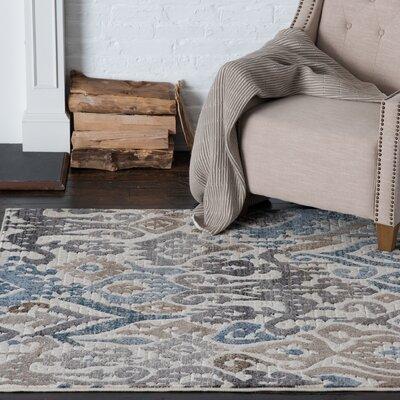 Malmberg Harta Ivory/Brown Area Rug Rug Size: Rectangle 53 x 77