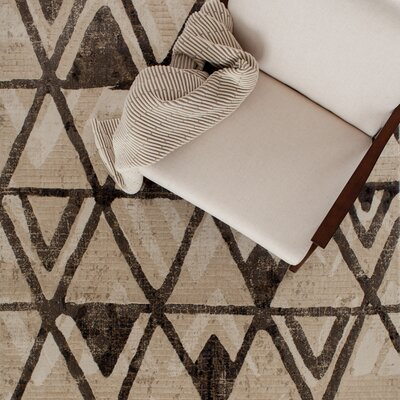 Malmberg Potter Ivory/Brown Area Rug Rug Size: Rectangle 53 x 77