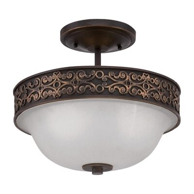 Bustillos 2-Light Semi Flush Mount