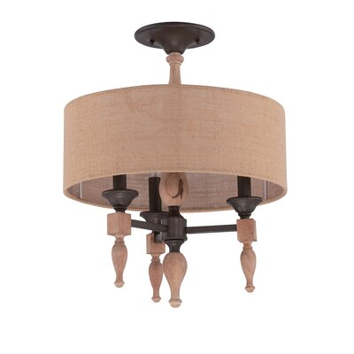 Lago Vista 3-Light Semi Flush Mount