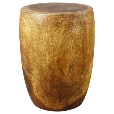Aaliyah Mango Merlot Twist End Table Color: Livos Walnut