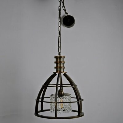 Halley Metal 1-Light Inverted Pendant