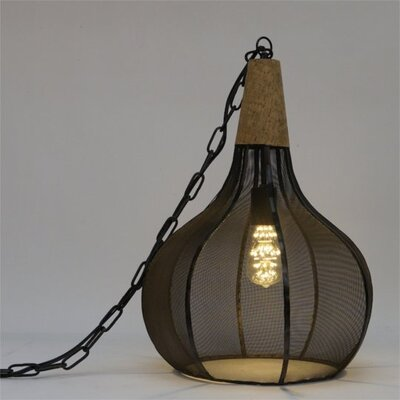 Elizalde Metal and Cork 1-Light Inverted Pendant Size: 21�H�x�14.25�W�x�14.25�D