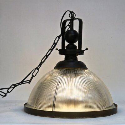 Eastland Metal and Glass 1-Light Inverted Pendant