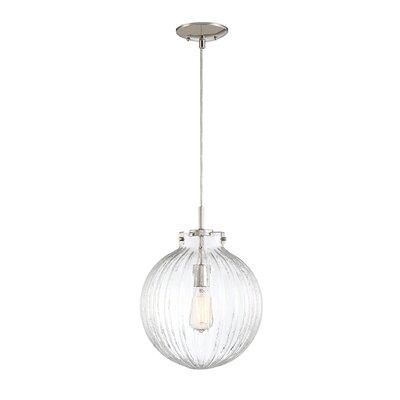 Nevels 1-Light Globe Pendant Finish: Polished Nickel