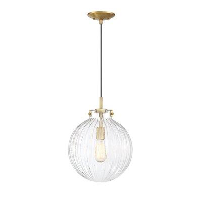 Nevels 1-Light Globe Pendant Finish: Natural Brass