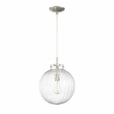 Nevels 1-Light Globe Pendant Finish: Brushed Nickel