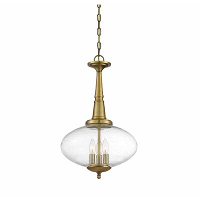 Encarnacion 3-Light Geometric Pendant Finish: Natural Brass