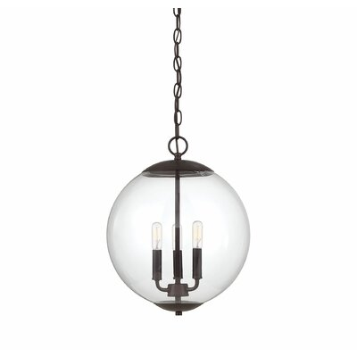 Blakeley 3-Light Globe Pendant Finish: Oil Rubbed Bronze