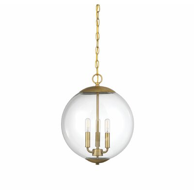 Blakeley 3-Light Globe Pendant Finish: Natural Brass