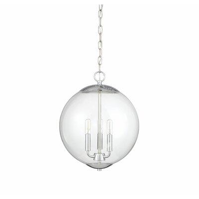 Blakeley 3-Light Globe Pendant Finish: Chrome