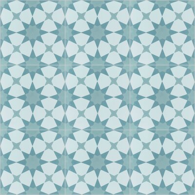 Taza 8 x 8 Cement Field Tile in Blue