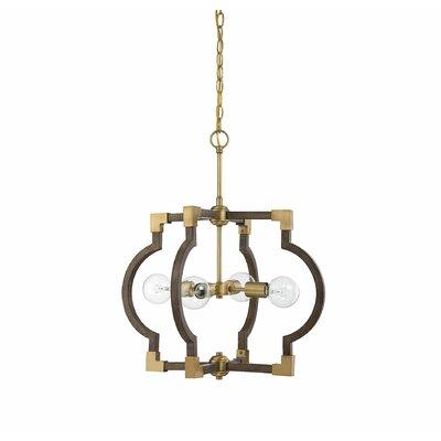 Millman 4-Light Foyer Pendant Finish: Natural Brass
