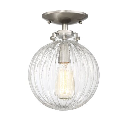 Nevarez 3-Light Semi Flush Mount Finish: Brushed Nickel