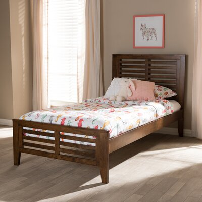 Farner Twin Platform Bed Color: Brown