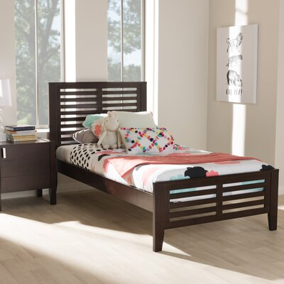 Farner Twin Platform Bed Color: Dark Brown