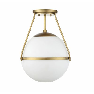 Galaz 1-Light Semi Flush Mount Finish: Natural Brass