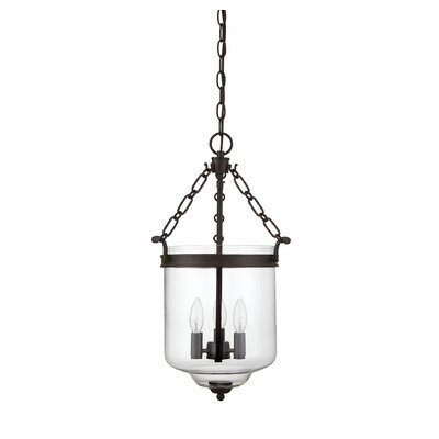 Hudock 3-Light Bowl Pendant Finish: Oil Rubbed Bronze