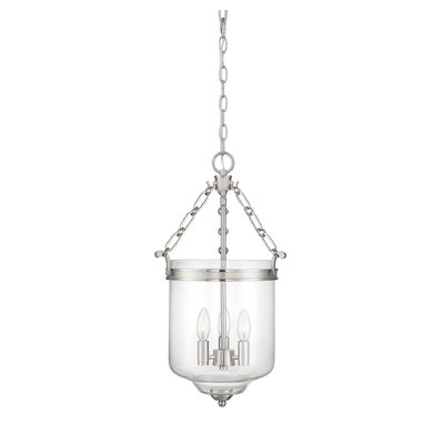 Hudock 3-Light Bowl Pendant Finish: Brushed Nickel