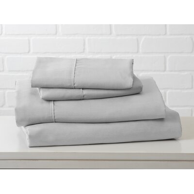 Hartland Sheet Set Color: Glacier Gray, Size: Twin
