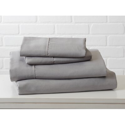 Hartland Sheet Set Color: Paloma Gray, Size: King