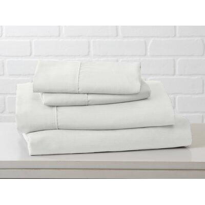 Hartland Sheet Set Color: Snow, Size: King