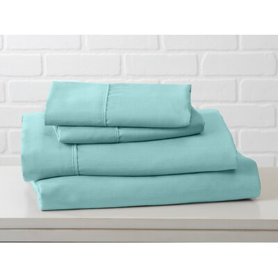Hartland Sheet Set Color: Pastel Turquoise, Size: Queen