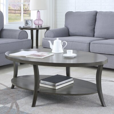 Hansmeier Oval Coffee Table Color: Gray