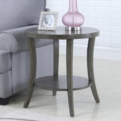 Hansmeier End Table with Storage Color: Gray