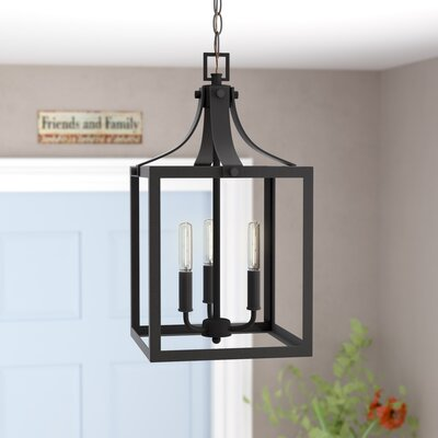 Sherri-Ann 60W 3-Light Metal Foyer Pendant Finish: Black