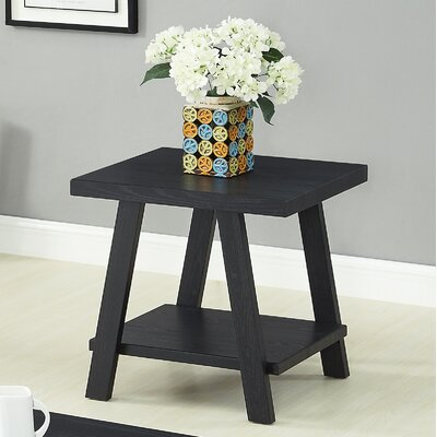 Filipek End Table Color: Black