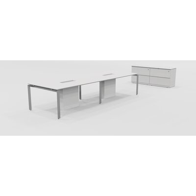 Linville Rectangular 30H x 48W x 144L Conference Table with Credenza