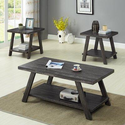 Filipek 3 Piece Coffee Table Set Color: Charcoal