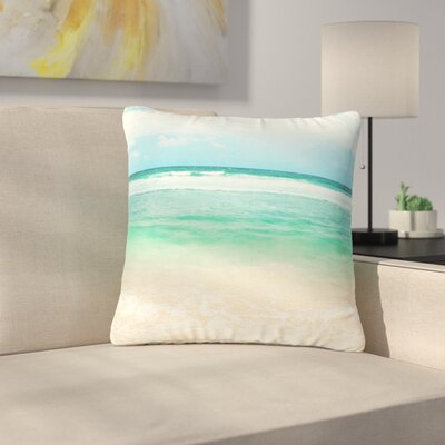 Sylvia Cook Endless Sea Coastal Outdoor Throw Pillow Size: 16 H x 16 W x 5 D