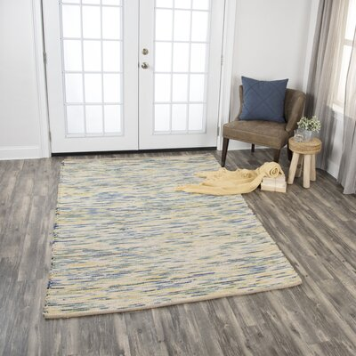 Holler Hand-Woven Wool Blue Area Rug Rug Size: Rectangle 76 x 96