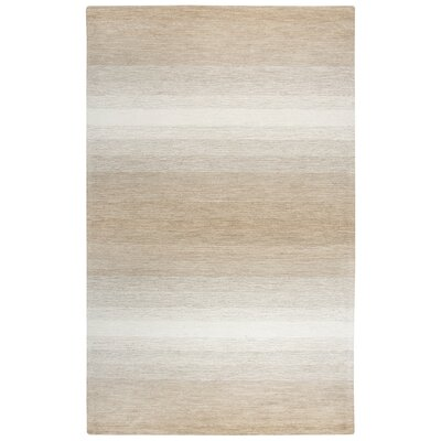 Maier Hand-Tufted Wool Beige Area Rug Rug Size: Rectangle 8 x 11