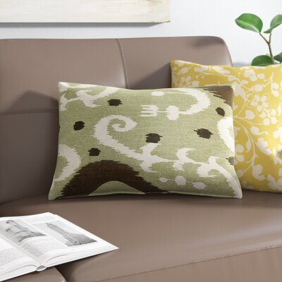Chalmers Ikat Lumbar Pillow Color: Green
