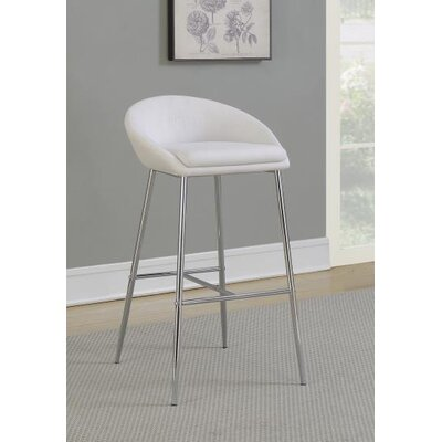30.25 Bar Stool Upholstery: White