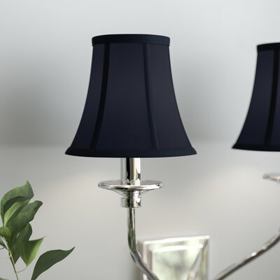 6 Silk Bell Clip-on Candelabra Shade Color: Navy Blue