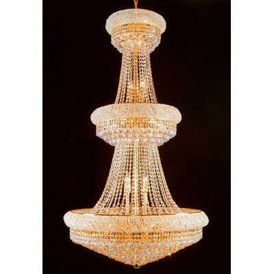 Hiltz 32-Light Empire Chandelier Crystal Color: Gold