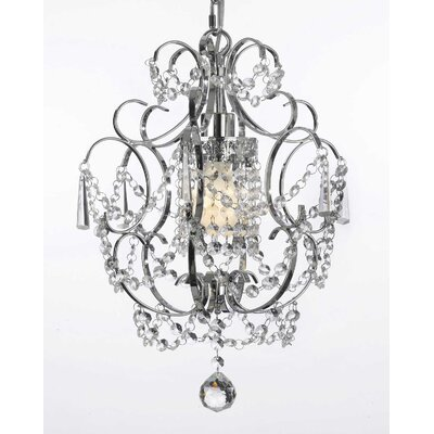 Whisenhunt 1-Light Crystal Pendant