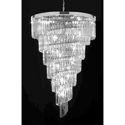 Hollins 28-Light Crystal Chandelier