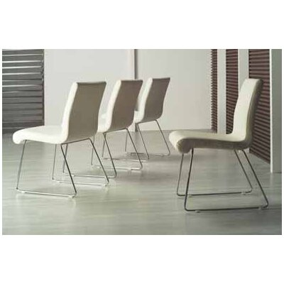 Seevers Dining Chair (Set of 4) Color: White
