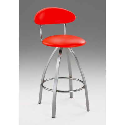 Pinedo 42 Bar Stool Color: Red