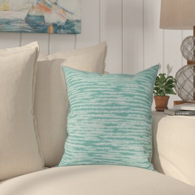 Hancock Marled Knit Geometric Print Throw Pillow Size: 16 H x 16 W, Color: Green